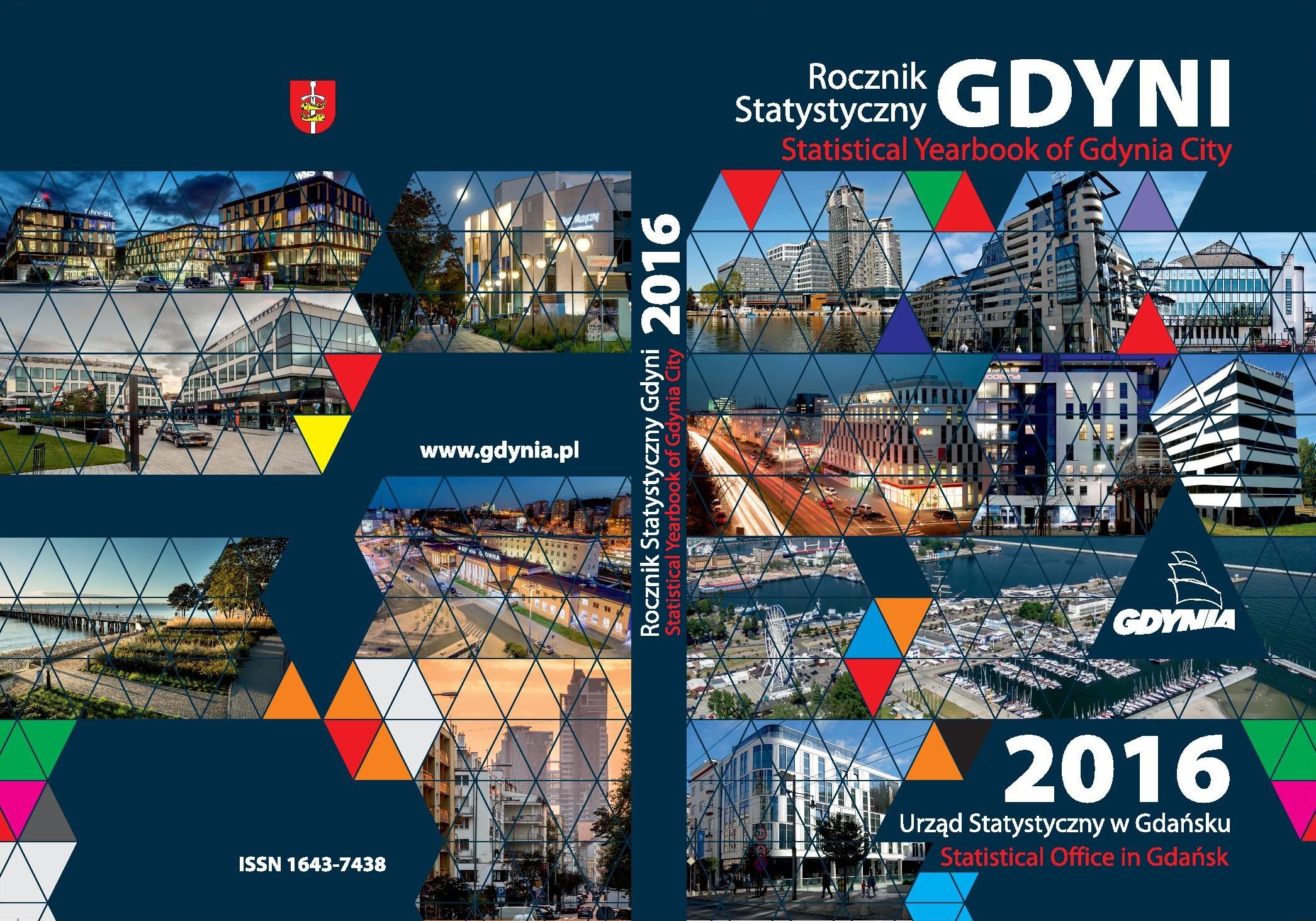 Okładka Rocznik Statystyczny Gdyni 2016