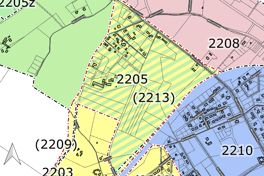 mapa pokazująca obszaru planu