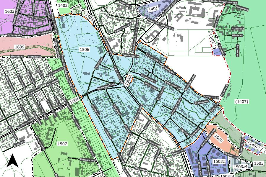 mapa obszaru