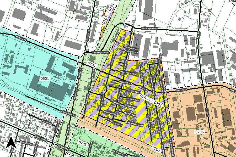 mapa obszaru planu