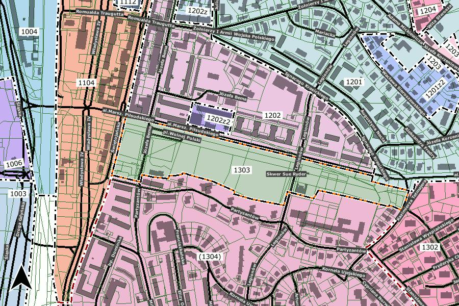 mapa granic planu